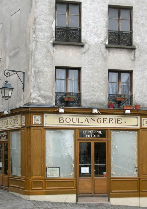 Boulangerie Greeting Card featuring a photo of a boulangerie in Paris
