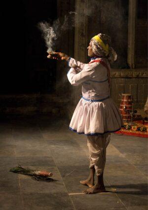a folk dancer in Udaipur