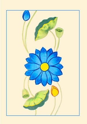 Lotus Greeting Card featuring a lotus design.