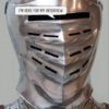A person dressed in armour - and text 'I'm here for my interview'