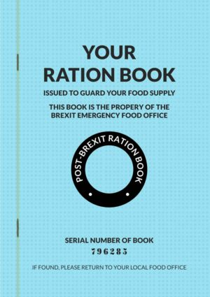 Card in the style of a Brexit ration book