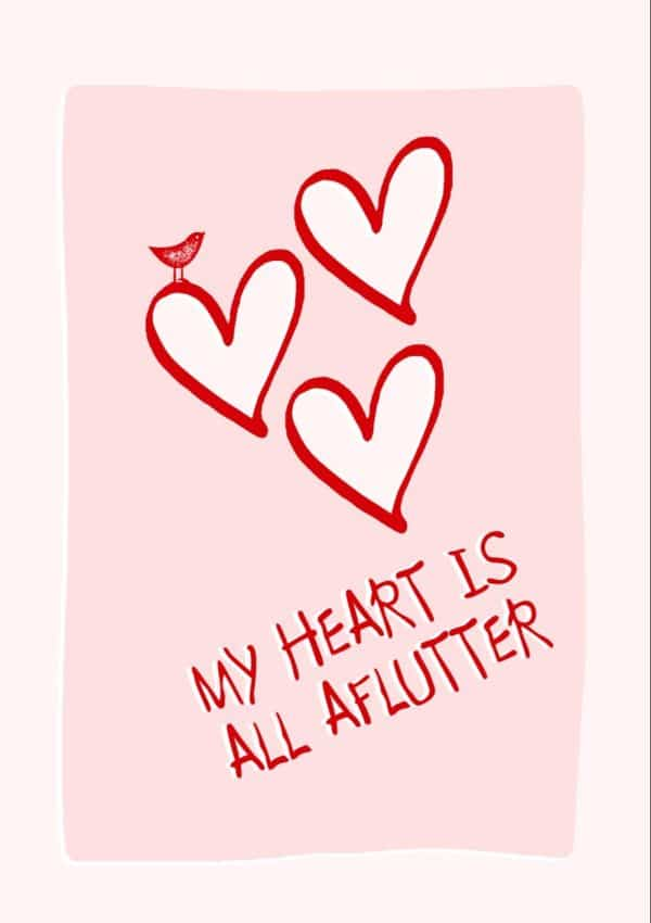 Aflutter Valentine's Day Card